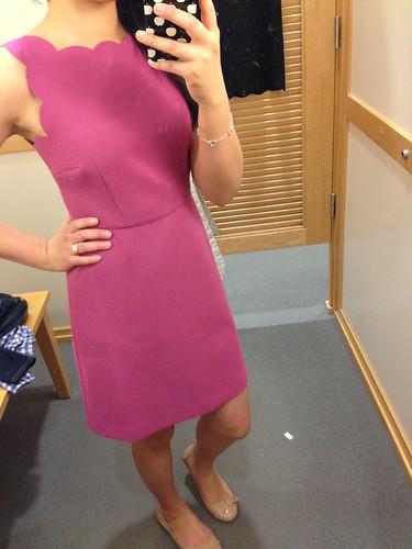 LOFT Scallop bodice dress