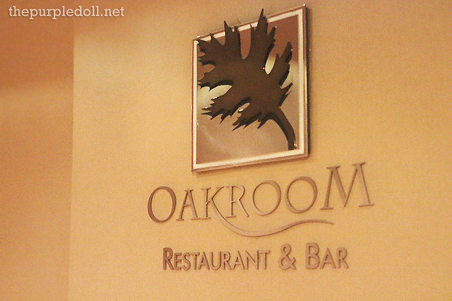 Oakroom Restaurant & Bar at Oakwood Premier Joy Nostalg Center Manila