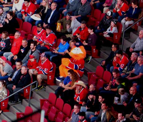 Youppi!, Montreal Canadiens 3, Ottawa Senators 4, Centre Bell, Montreal, Quebec