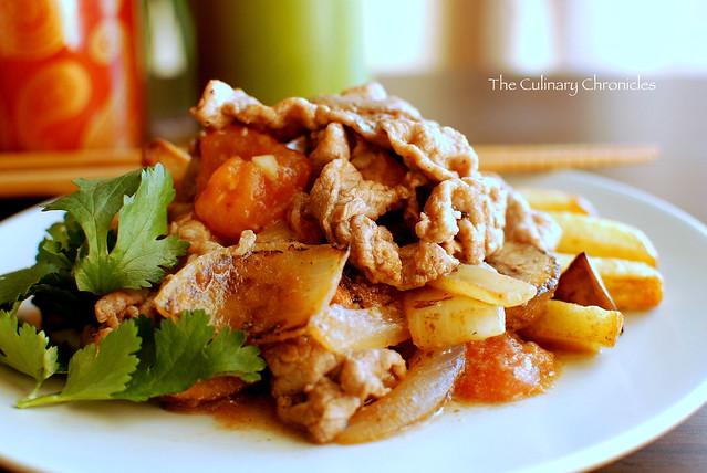 Thịt Bò Xào Khoai Tây (Vietnamese Stir Fry Beef and Potatoes)