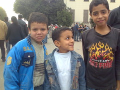 Small Kids Joining the Demonstration in Tahrir Square