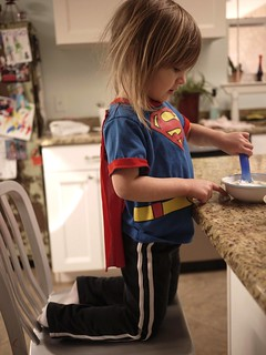 even superman needs a good breakfast :)