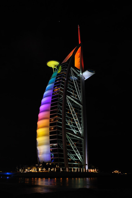 Rainbowcolours of the Burj Al Arab