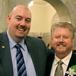Blake Robert & Advanced Education Minister Greg Weadick