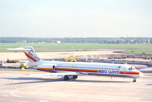 Aero Lloyd MD-87; D-ALLH@FRA;10.10.1995
