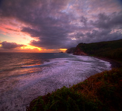 Sunrise at Pololu