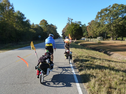 Ed and Vanessa leading the way out of Conway, SC