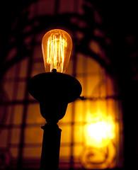 incandescent light bulb, light fixture, yellow, light, darkness, night, lighting,