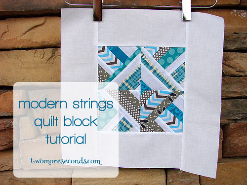 modern strings quilt block tutorial
