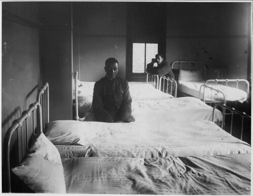Sleeping quarters at the Berean Club, Philadelphia, Pennslyvania., 1917 - ca. 1919 by The U.S. National Archives