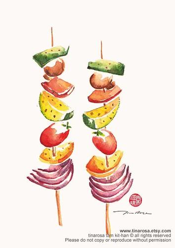 Grilled Vegetable Satay Skewers