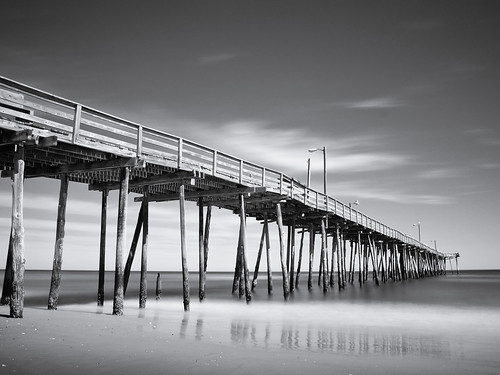 Nags Head Pier long exposure (monotone version)