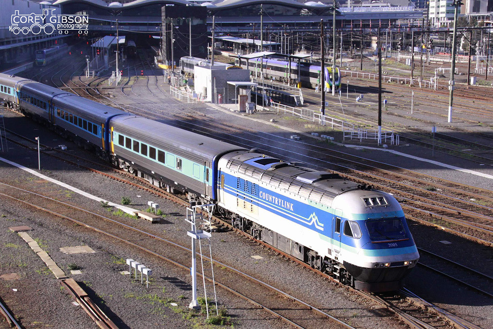Sydney XPT departs Southern Cross Station by Corey Gibson