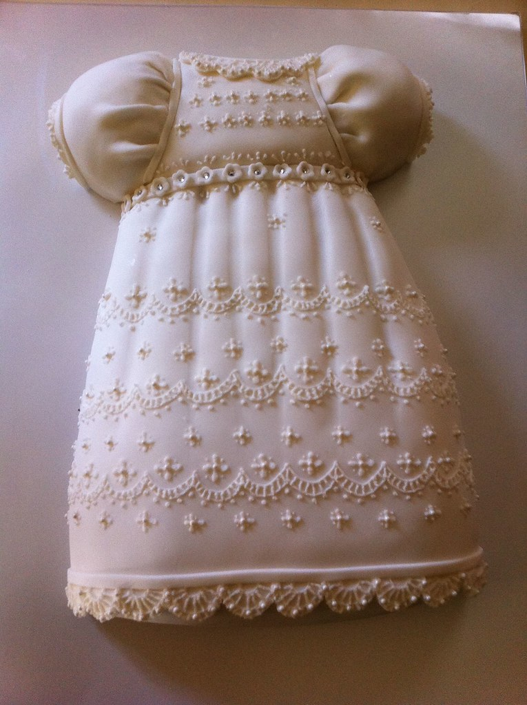 How To Make A Christening Gown Dress Cake