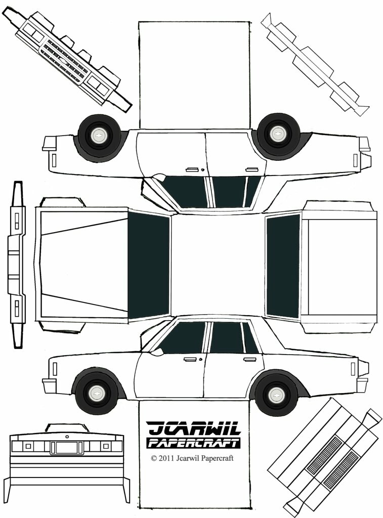 Jcarwil Papercraft 85 Chevy Impala Finally Here S Your