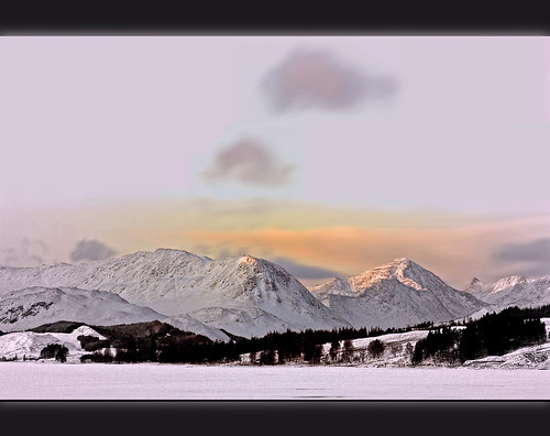 snow sunrise landscape scotland explore rannochmoor sbfmasterpiece heavensshots