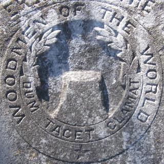 Woodmen of the World crest - squared circle