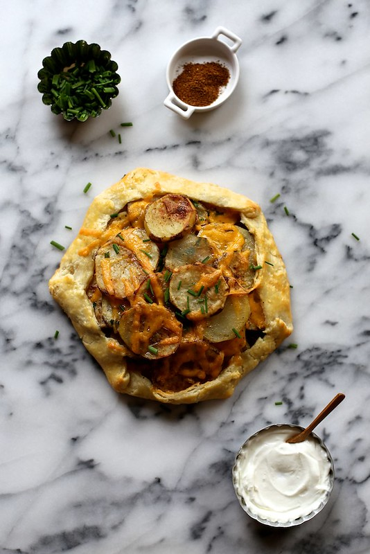 Roasted Potato Galette with cheddar and chives | Joy the Baker