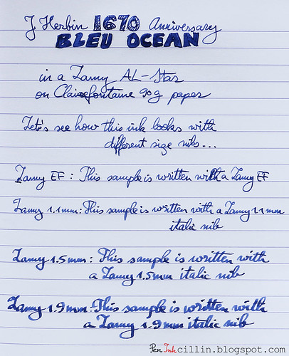J Herbin 1670 Anniversary Bleu Ocean on Clairefontaine