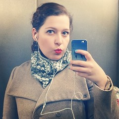 #elevatorselfie #lip #redlip #mac #macladydanger #ladydanger #friday #tgif #selfshot #selfie #lookbook #lookoftheday #ootd #face #fotd