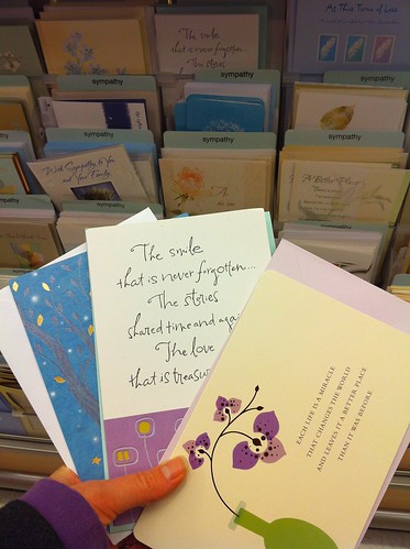 sympathy cards. it's so surreal.