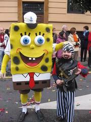Carnaval 2010 en Oviedo con Bob Esponja