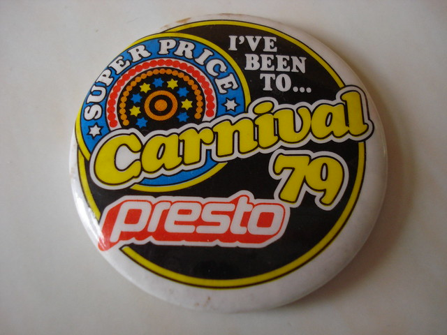 1979 Presto supermarkets promotional badge