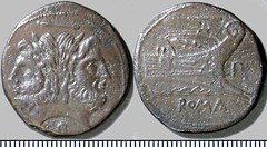 99/1b Luceria P As. Third phase. horizontal bar / Janus / P; horizontal bar / Prow / P / ROMA. Paris d'Ailly 3548, 12g08