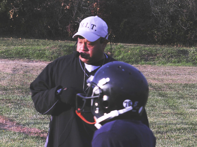 Youth Football Coach uses Amplivox Wireless Microphone to Amplify    Youth Football Coach