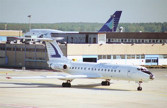 Estonian Air Tupolev 134A; ES-AAN@FRA;10.10.1995