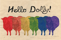 Hello Dolly! monoprint