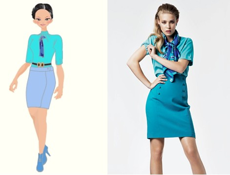 6 6 The Right Is The Stewardess Uniform Corsair Used In 1 Flickr