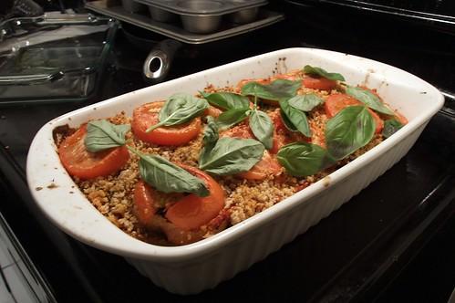 Amazing Rustic Bread Eggplant Lasagna