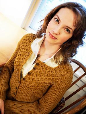 Peanut Butter Cardigan (Crochet)