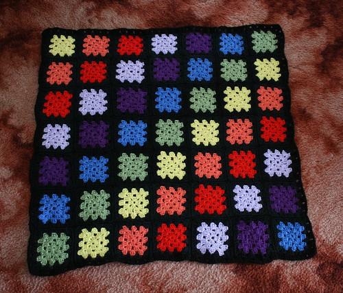 Small Crochet Rainbow Blanket