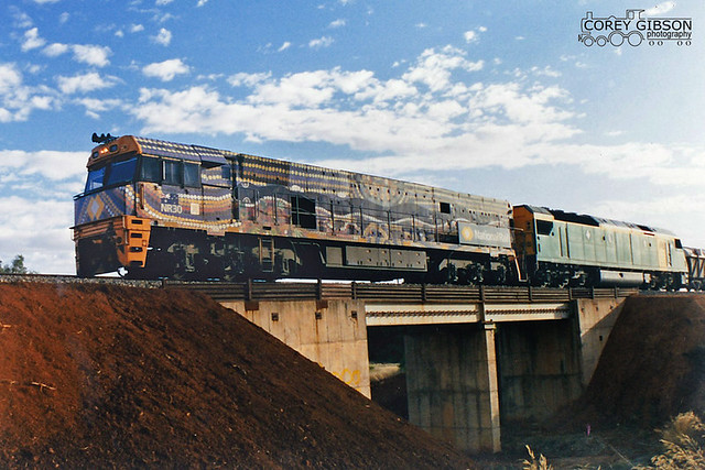 Indigenous liveried NR30 heading towards Gladstone