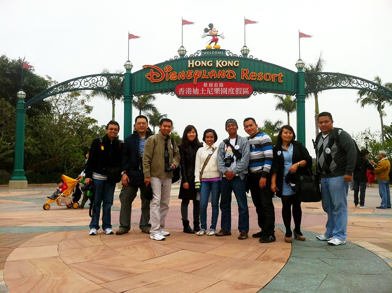We are in Hong Kong Disneyland