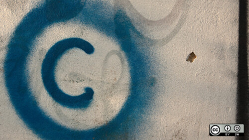 Copyright graffiti