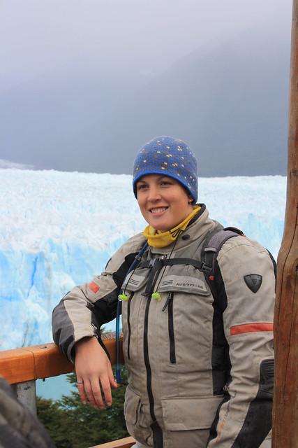 Naomi at Perito Moreno Glacier