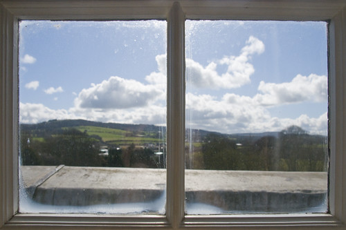ireland castle window view room durrow