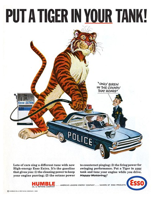 Giant Esso Tiger | For years the Standard Oil Company (S.O ...