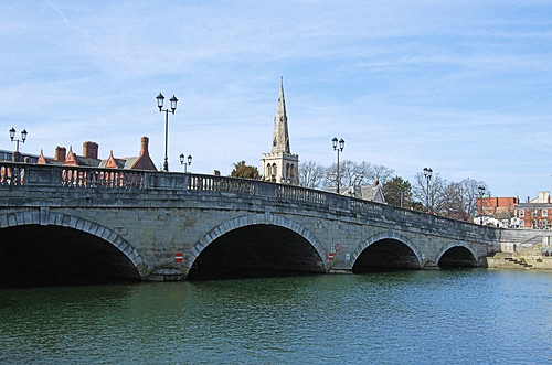 Bedford Bridge On The River Great Ouse.