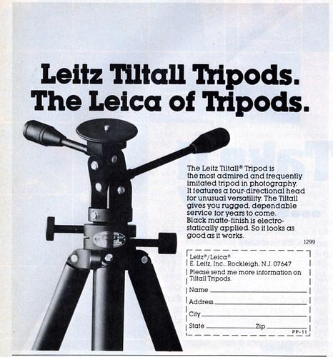 Leitz Tiltall Tripods 1979