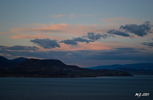 sunset mountain lake canada mountains color colour water colors clouds nikon okanagan