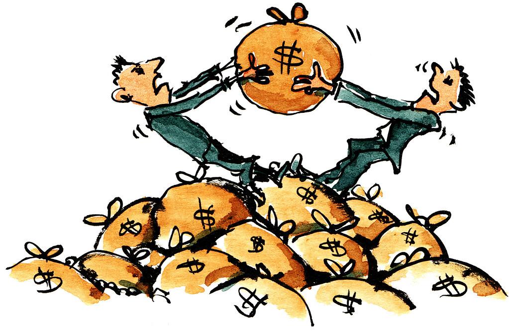 Money-fight illustration