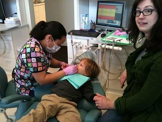 isaac at the dentist