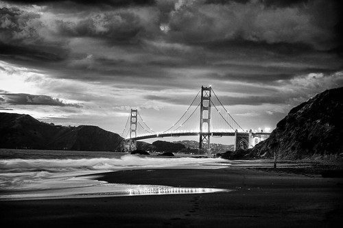 San Francisco Bridge B&W