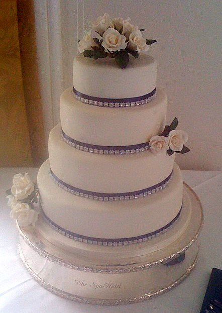 Ivory Navy wedding cake Today 39s 4 tier chocolate vanilla cake with