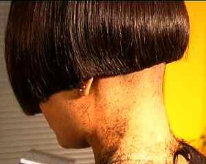 Bob Haircut with Nape Shaved