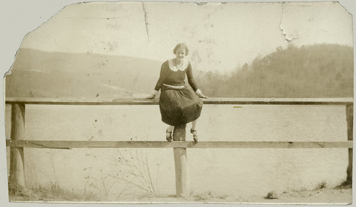 Girl on a rail